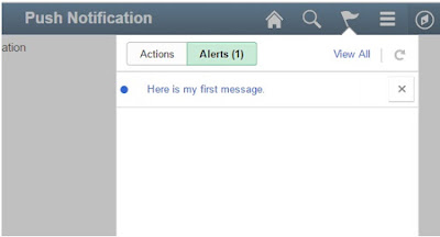 PeopleSoft Push Notification Alert
