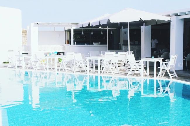 Minois village hotel suites & spa pool area,Paros island,Cyclades