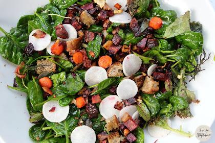Salade méli-mélo de légumes crus et cuits