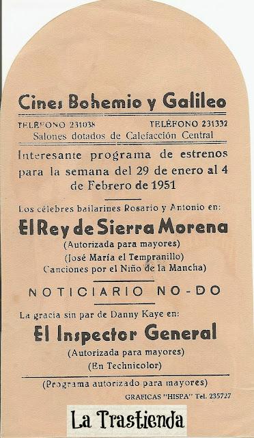 Programa de Cine - El Inspector General - Danny Kaye - Barbara Bates