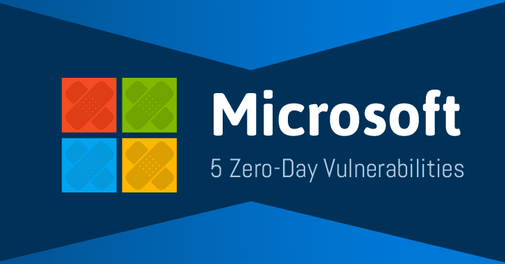 Microsoft Patches 5 Zero-Day Vulnerabilities Being Exploited in the Wild