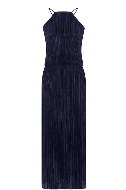 black crinkly maxi dress, black halter neck maxi dress, warehouse halter neck dress,
