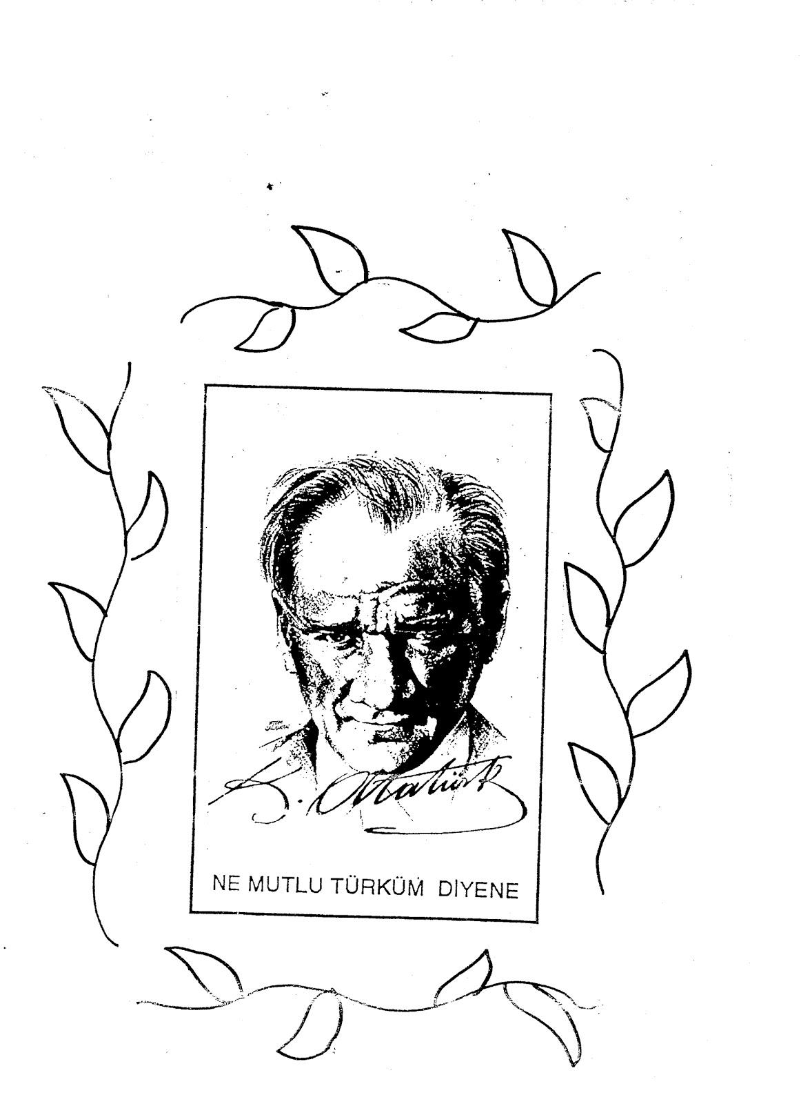 Olcay Okulöncesi Neşesi Boyamalar Atatürk