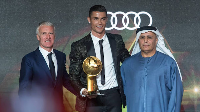 Juve's Cristiano Ronaldo Wins Globe Soccer Player Of The Year Award