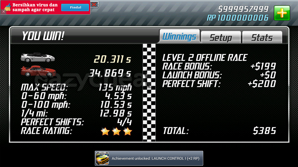 drag racing android cheats without root