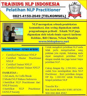 Sertifikasi NLP Practitioner di Jogja 2016 2017