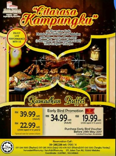 Senarai Buffet Ramadhan 2017 Di Melaka