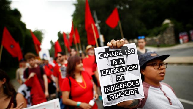 Canada holds celebrations amid natives' protests