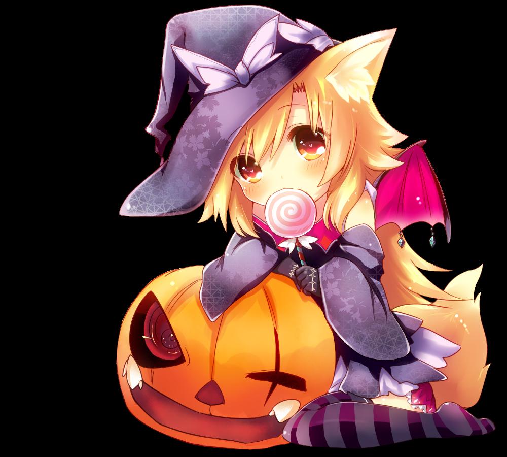 Resultado de imagem para png de halloween anime