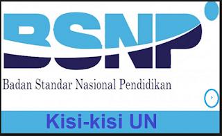 Kisi-kisi UN 2018