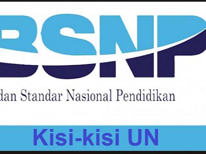 Kisi-kisi Ujian Nasional/UNBK SMP/Mts, SMA/MA dan SMK Tahun 2020 dari http://bsnp-indonesia.org/