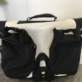 Brompton O bag - showing two waterproof removable bags on the back
