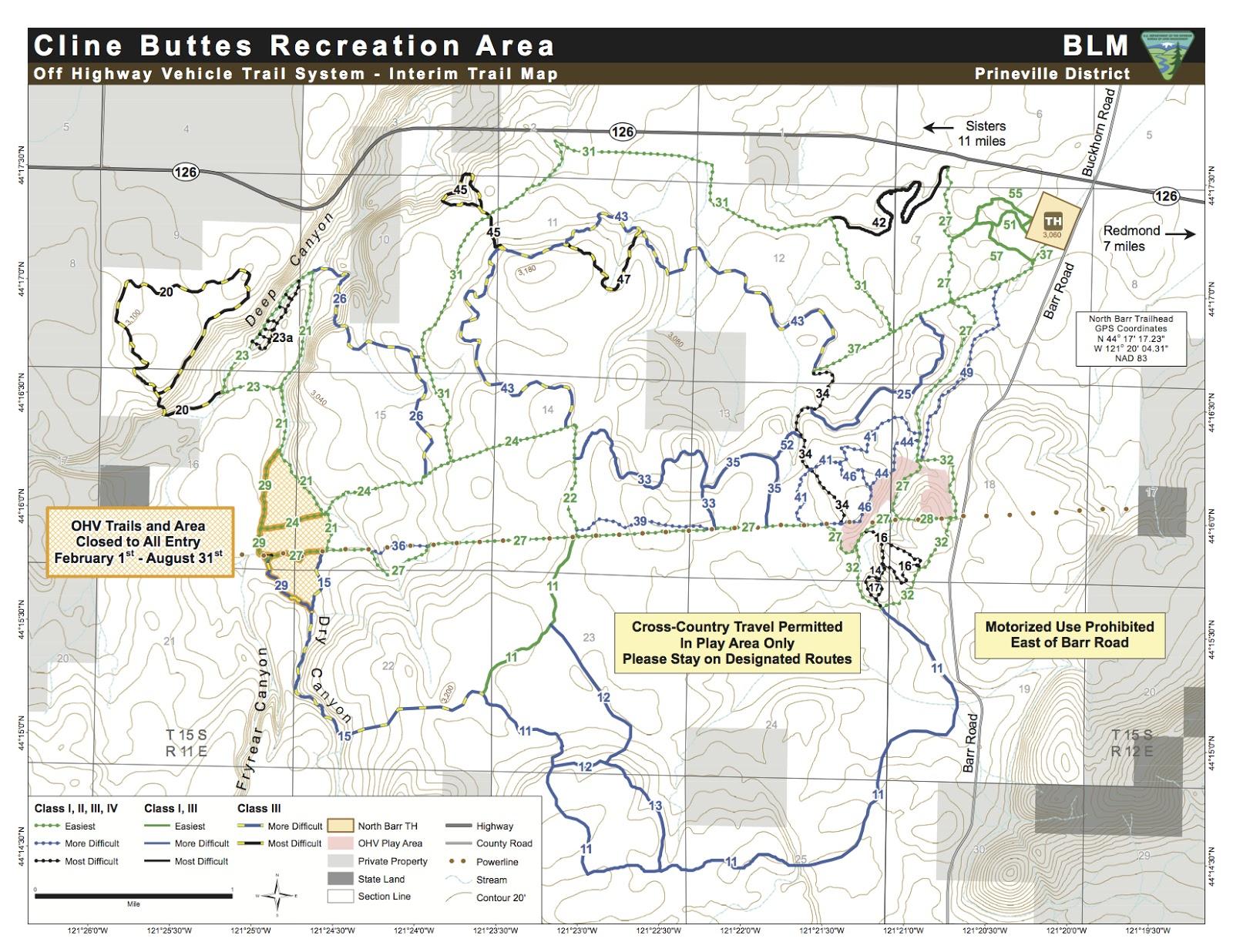 cline buttes recreational area map jpg