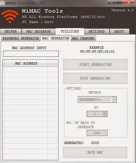 WIMAX Password Generator