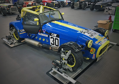2018 Caterham Roadsport having the setup checked