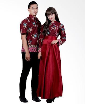 Model Gamis Batik Orang Gemuk pasangan