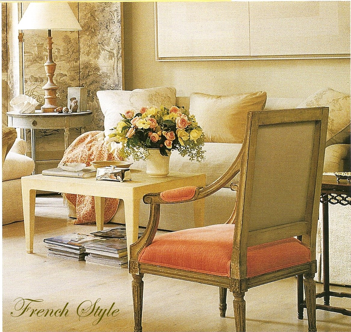 BOXWOOD TERRACE: French Inspired Living Room
