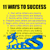11 WAYS TO SUCCESS