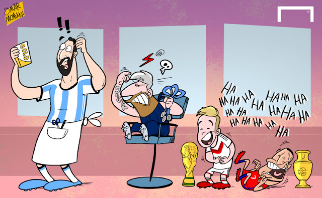 Messi complains to Higuain for all the silver