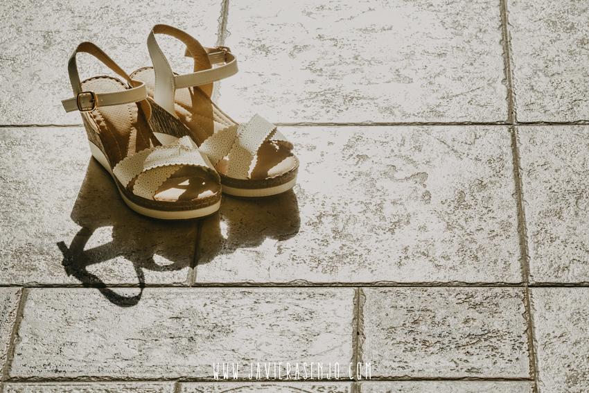sandalias novia
