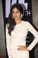 Chandini Chowdary in white Tight dress at Shamanthakamani pre release function ~  Exclusive 053.JPG