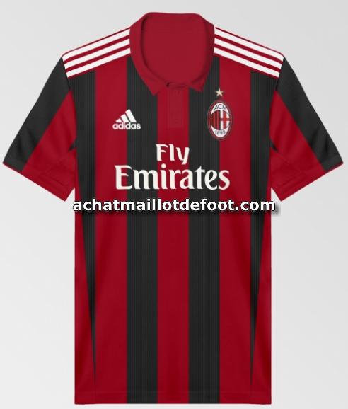 Maillot Domicile AC Milan ÉQUIPE