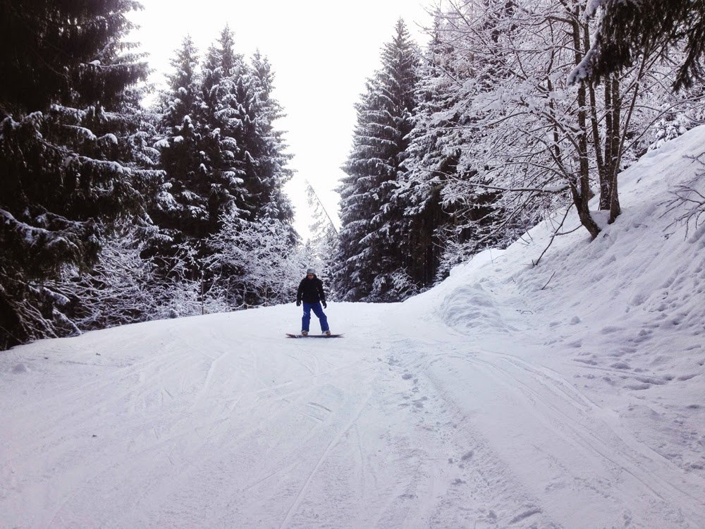 Snowboarding in Zell Am See, Austria