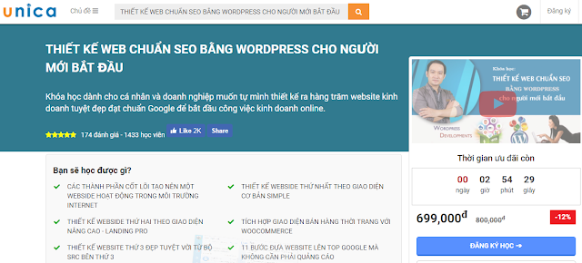 Share Khóa Học: Thiết Kế Web Chuẩn Seo Bằng Wordpress Cho Người Mới Bắt Đầu