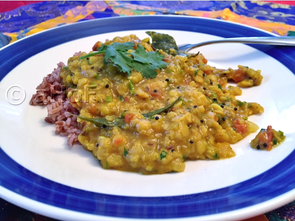 Toor Dal with Tomatoes & Spinach