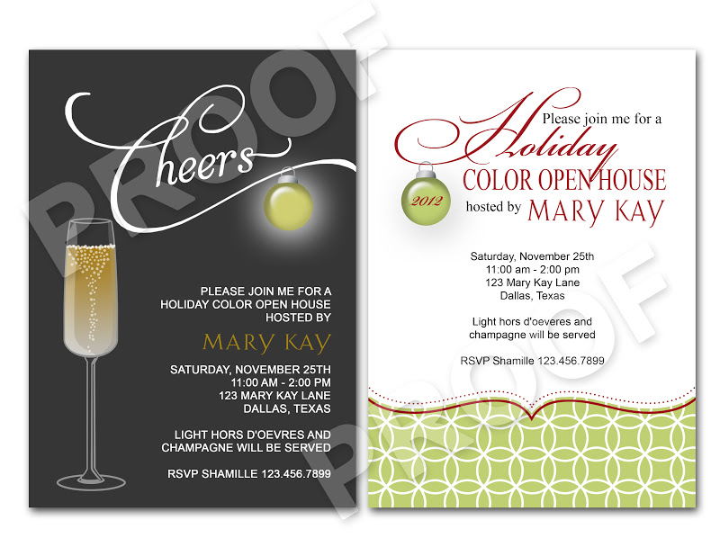 Paper Perfection Christmas Open House Invitation