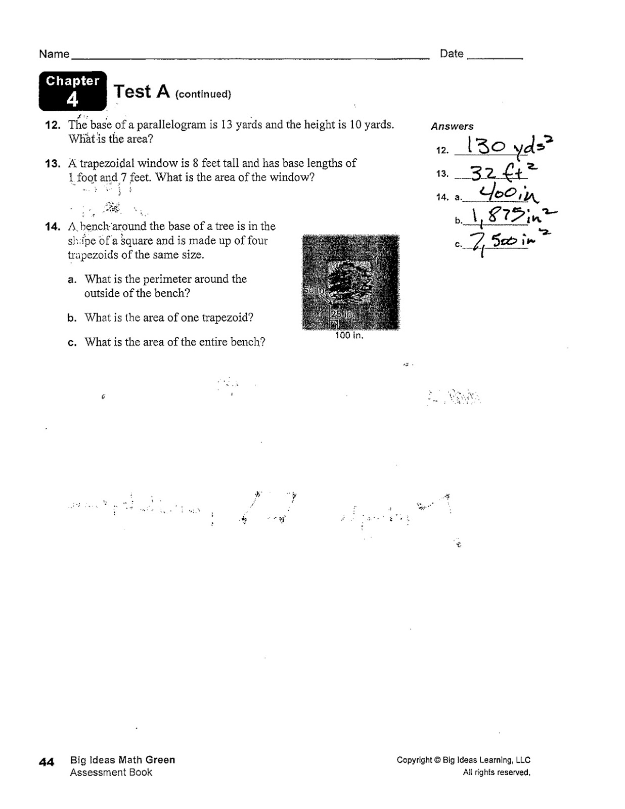 Heidemann 6th Grade Math And Science Chapter 4 Exam Key