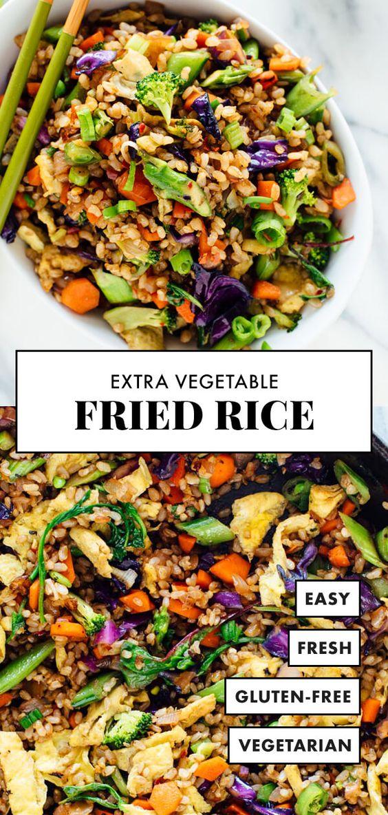Extra Vegetable Fried Rice #vegetable #friedrice #veggies #vegetarianrecipes #vegetarian #veganrecipes