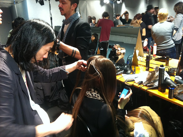 Clio Make Up ClioMakeUp Maybelline NY backstage Milano Fashion Week 2013 A/I F/W intervista foto video modelle