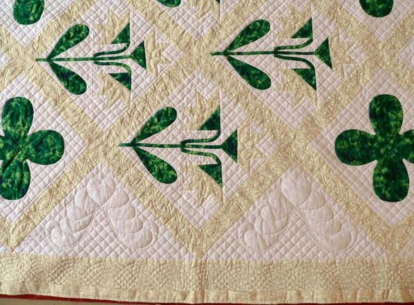 North Carolina Lily quilting