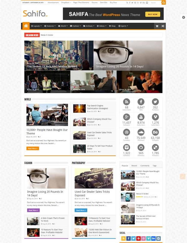 sahifa ultimate powerful magazine theme