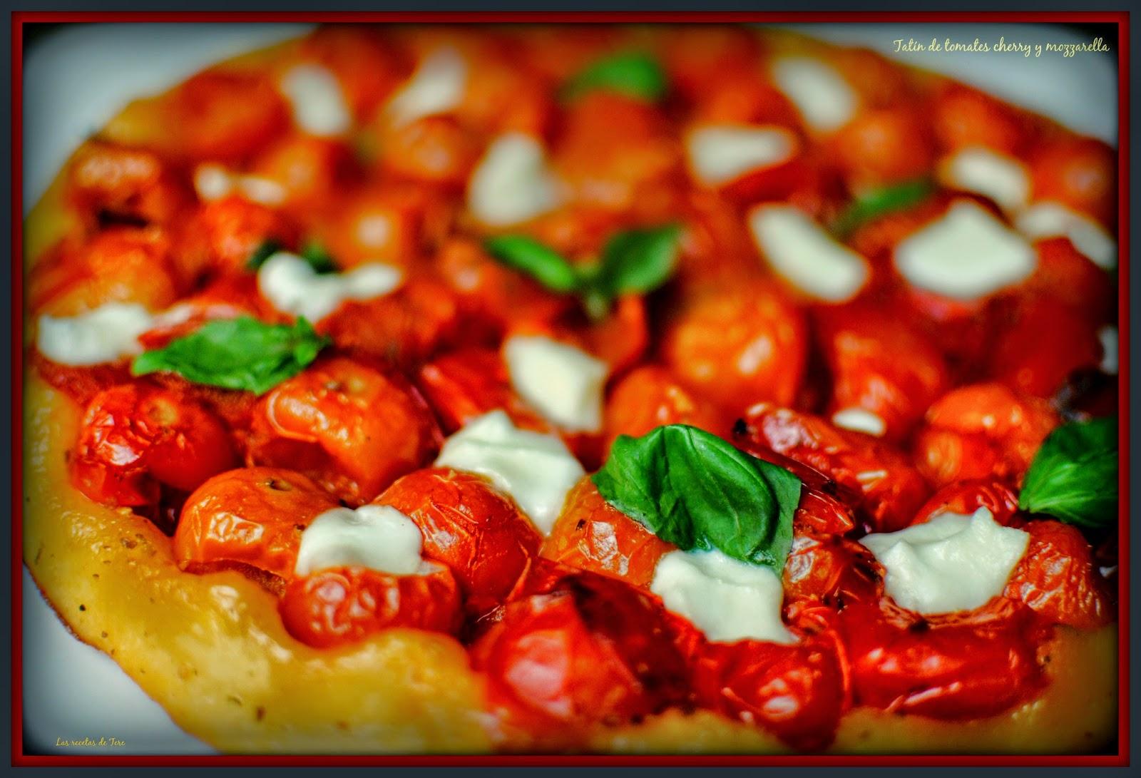tatín de tomates cherry y mozzarella tererecetas 06