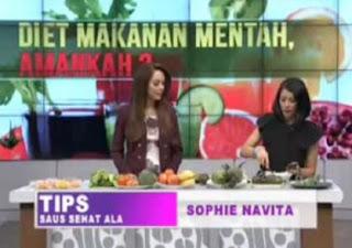 Diet Makanan Mentah Dr OZ 4 Juli 2015 Sophie Navita