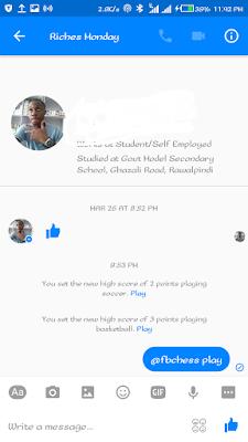 facebook messenger games list soccer basketball chess