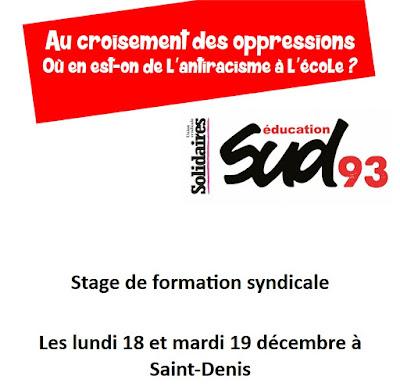 Sud Education 93 organise un stage avec la nouvelle extrême française à destination des enseignants