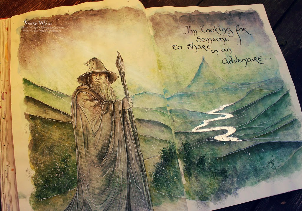 19-Gandalf-the-Grey-Kinko-White-The-Hobbit-Watercolors-www-designstack-co