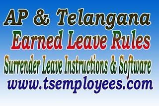 AP Telangana Earned Leave Rules