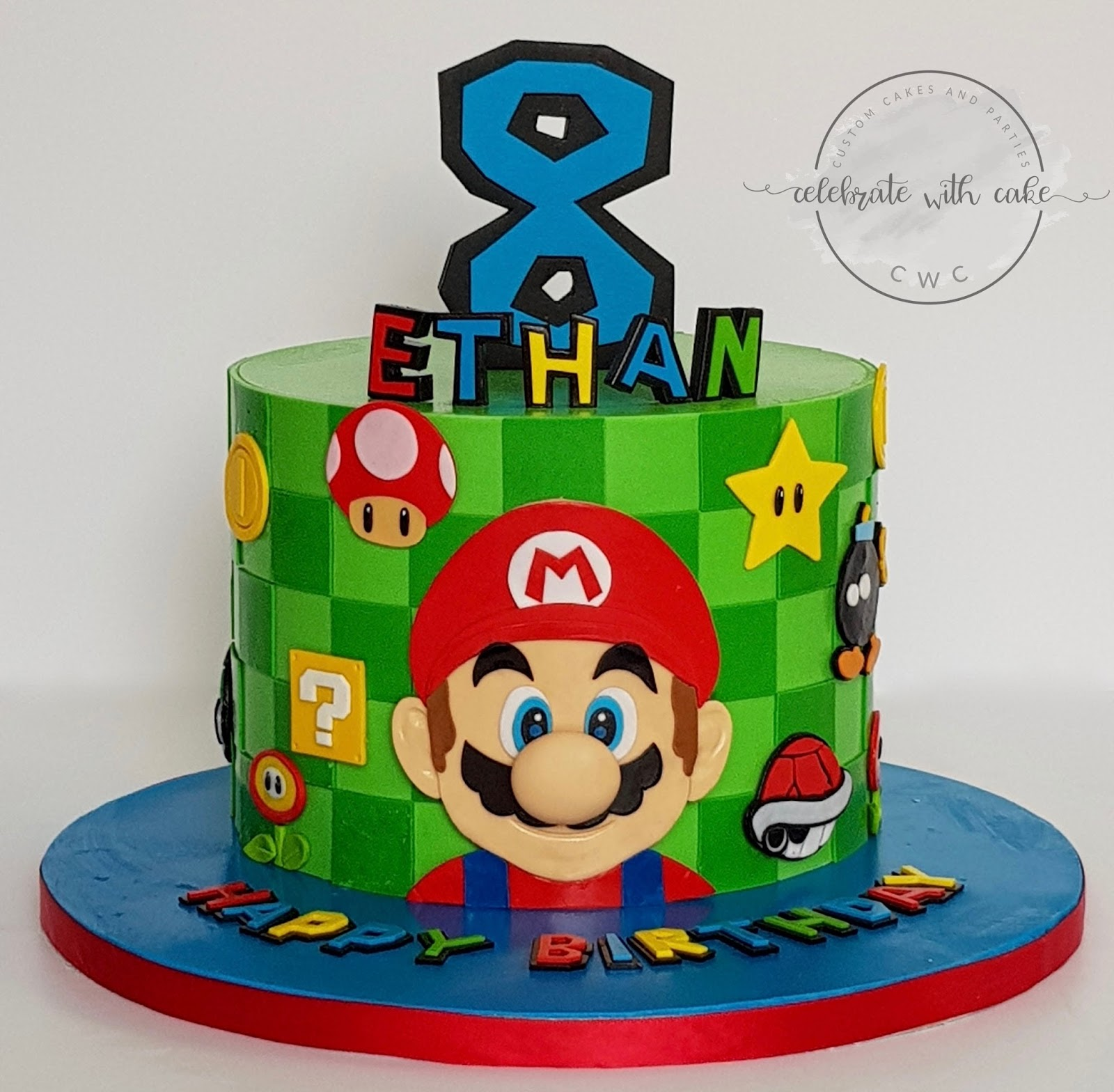 Celebrate With Cake Super Mario Single Tier