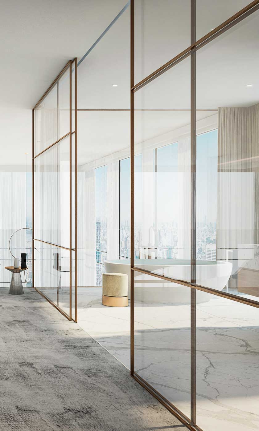 Juin 2013 Blog Decoration Maison New York Style Interior A Minimal Bronze Partition Wall In A High End Apartment | Trends U002719