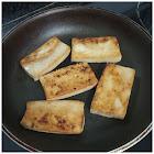 Tofu a la plancha antes de emplatar