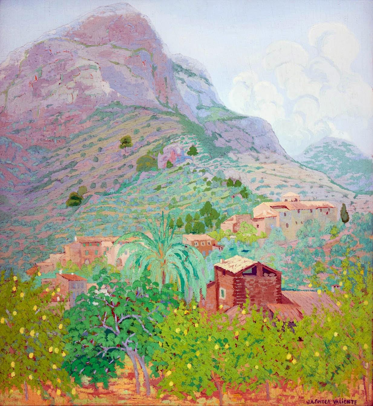 Joan Antoni Fuster i Valiente, Paisaje de Paisaje de Mallorca, Mallorca en Pintura, Serra de Tramontana