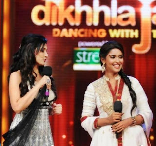 Bollywood Actress Asin on the sets of Jhalak Dikhhla Jaa