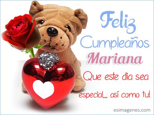 Feliz Cumpleaños Mariana - Imágenes Tarjetas Postales con