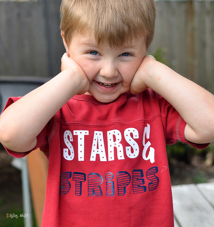 DIY Stars and Stripes 4th of July Kids shirts