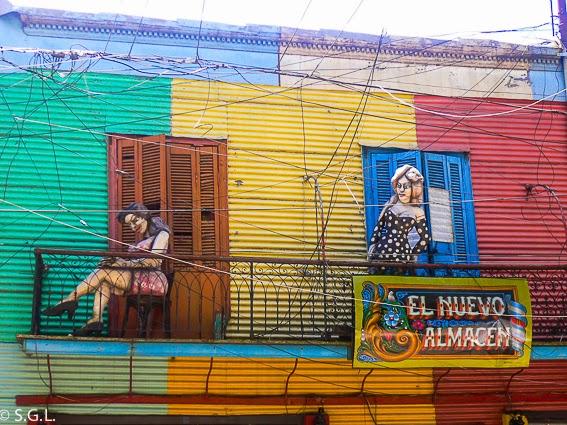 fachada y colores en caminito Buenos Aires