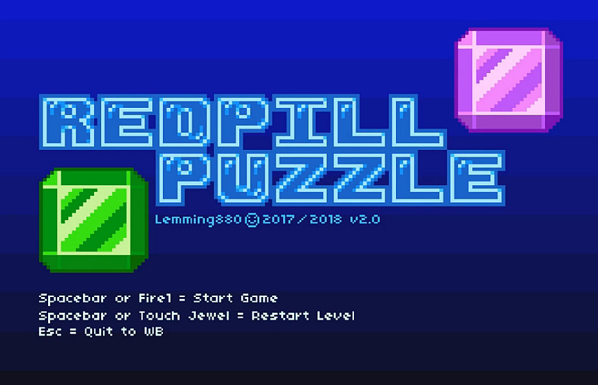 Indie Retro News: Redpill Puzzle - Move the Diamonds in